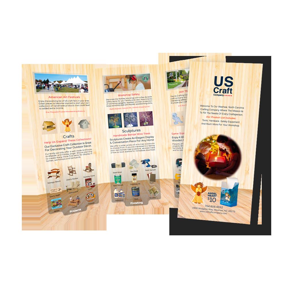 Us Craft Company Brochure Design